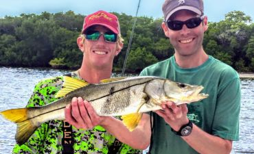 Nice Snook caught on Bay to Bay Fishing Charters