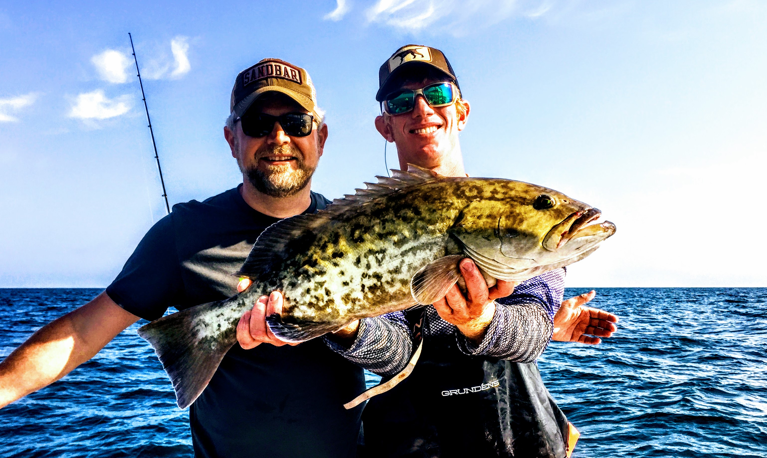 Brian Peacock with Bay to Bay Fishing Charters